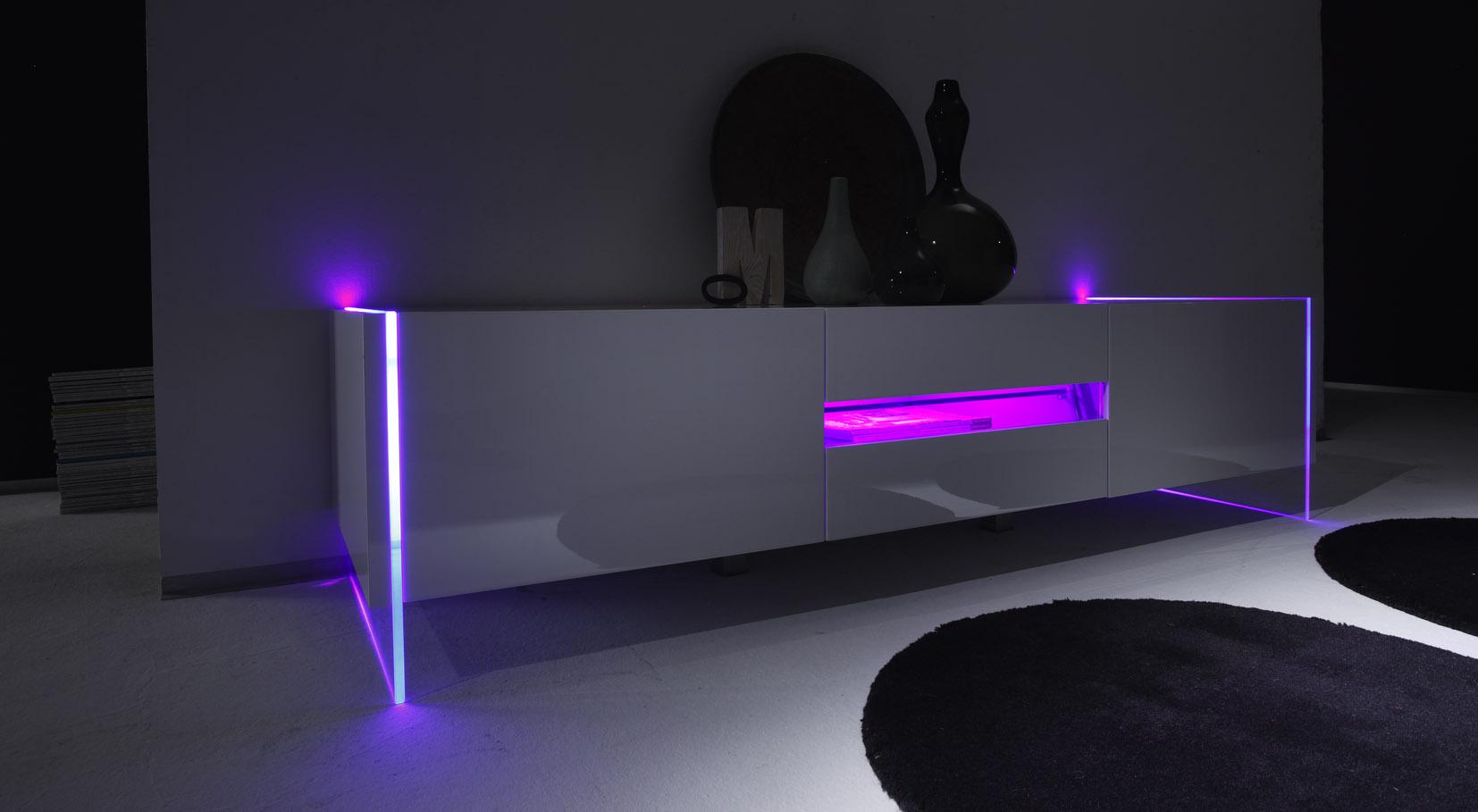 Obývací stěny Lumina LED