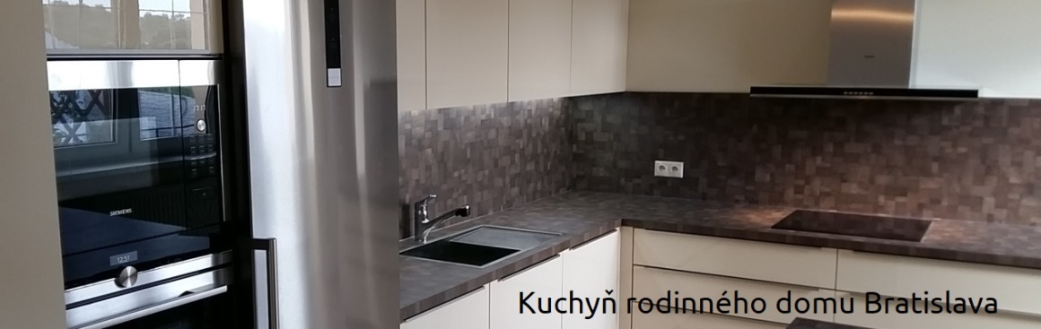 Kuchyň do renovovaného rodinného domu poblíž Bratislavy
