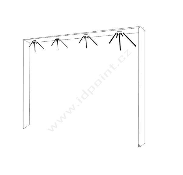 Ozdobný rámeček pro šatní skříň Xaos-DF-275 bílý matný lak