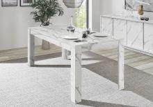 Jídelní stůl Ice-T-180 MAB bílý mramor