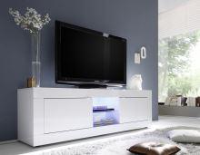 TV skříňka BasicNEW-TV-L LBI LBI bílý lesklý lak