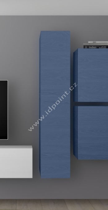 Závěsná skříňka Infinity-B WBLU dřevodekor dub modrý