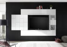 Obývací stěna Infinity-kompozice6 LBI bílý lesklý lak