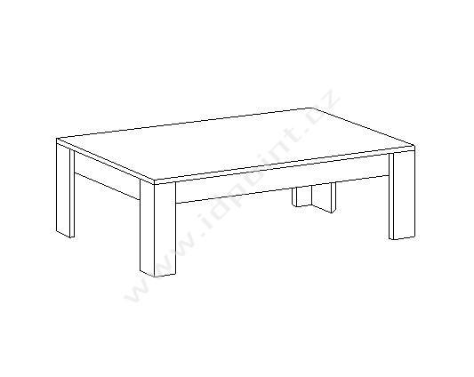 Konferenční stůl Xaos-TC-122 bílý lesk