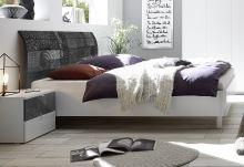 Manželská postel Xaos-P2-160 bílý mat v kombinaci s dekorem šedým