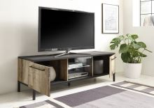 Peró-TV Nízká skříňka pod televizor staré dřevo hruška