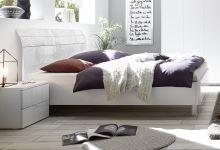 Manželská postel Xaos-P2-180 bílý mat v kombinaci s dekorem bílým