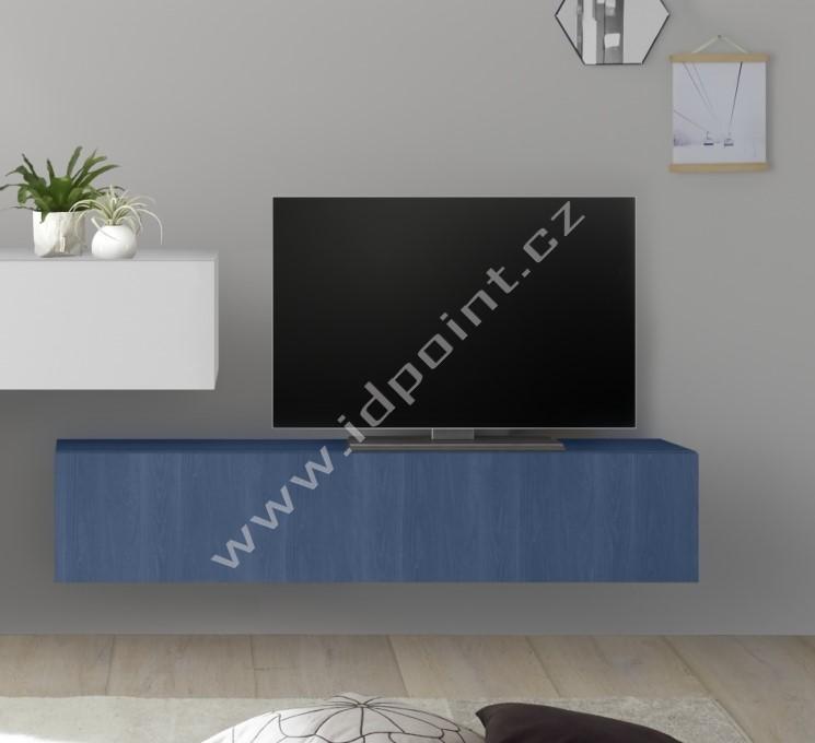 Závěsná skříňka výklop nebo sklop Infinity-C WBLU dřevodekor dub modrý
