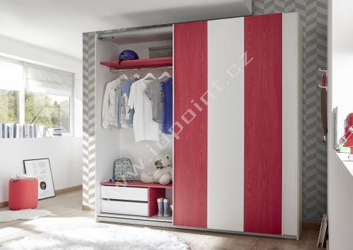Šatní skříň s posuvnými dveřmi Enjoy-Vertico-243
