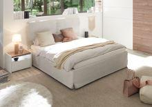 Čalouněná postel Full-P-160x200 LC01 imitace kůže barva jíl