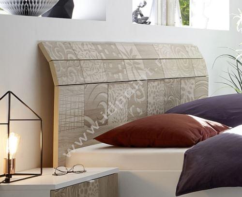 Manželská postel Xaos-P2-180 bílý mat v kombinaci s dekorem béžovým