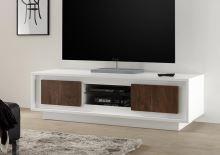 Skříňka pod televizi Sky-TV bílý matný lak+dub koňak