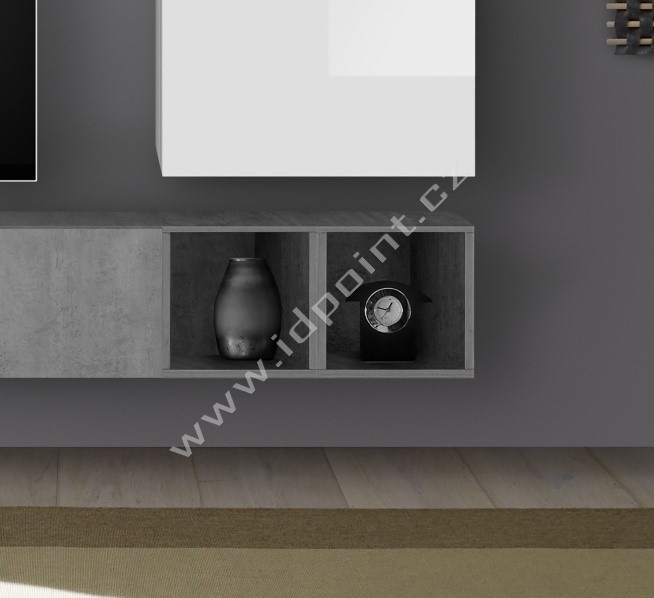 Sada 2 ks otevřených skříněk Infinity-D BET beton