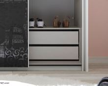 Vnitřní zásuvky do šatní skříně Xaos-ID-275 lamino dekor látka