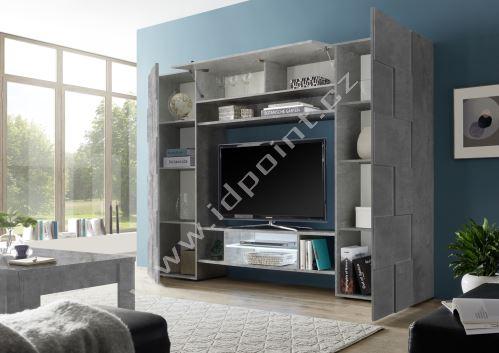 Kompaktní obývací stěna Dama-WU BET beton