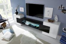 Skříňka pod televizi Incastro-TV-S bílý lesklý lak a černý lesklý lak