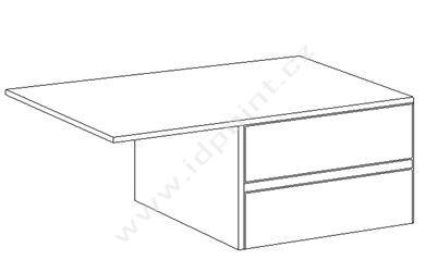 Vnitřní zásuvky do šatní skříně Nivea-IC-243 bílé