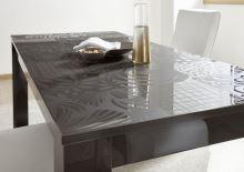 Rozkládací jídelní stůl Xaos-T-137 podnož šedý lesk, deska šedý vzor