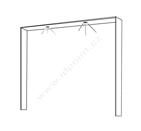 Ozdobný rámeček pro šatní skříň Xaos-DF-220 bílý matný lak
