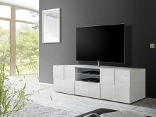 TV skříňka Dama-TV2 LBI bílý lesklý lak