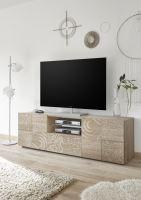 Skříňka pod televizi Xaos-TV2 korpus dekor dub, dvířka béžový vzor