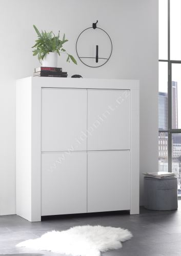 Vysoká komoda Firenze-SB4 LBM bílý matný lak