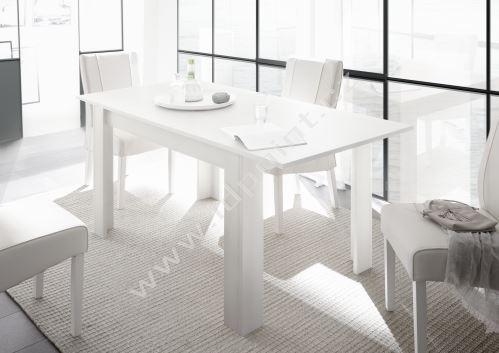 Rozkládací jídelní stůl Firenze-T-137 LBM bílý matný lak