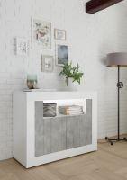 Komoda Urbino-LB LBI BET korpus bílý lesk, čela beton