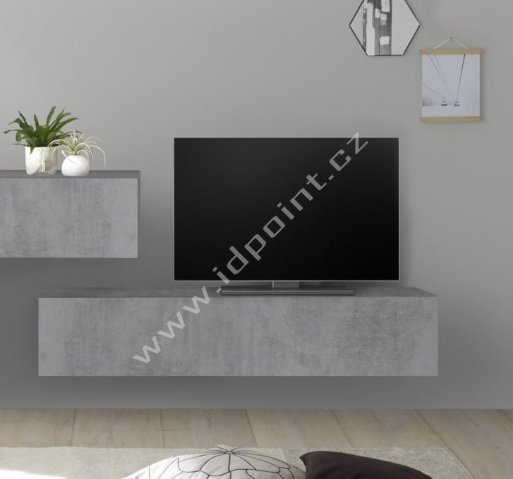Závěsná skříňka výklop nebo sklop Infinity-C BET beton
