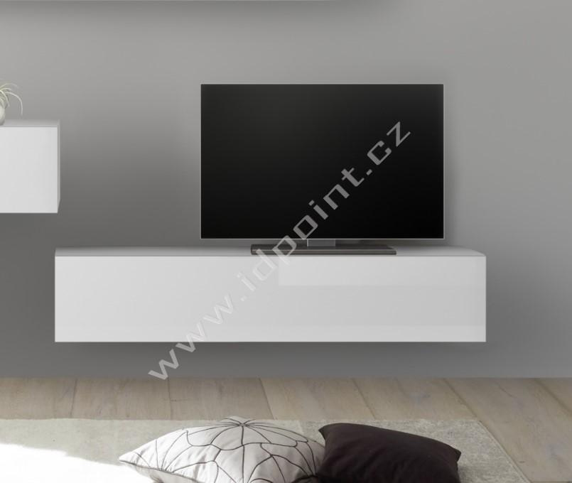 Závěsná skříňka výklop nebo sklop Infinity-C LBI bílý lesklý lak
