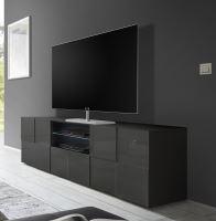 TV skříňka Dama-TV2 LGR šedý lesklý lak