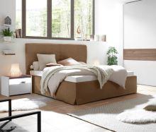 Čalouněná postel Full-P-160x200 LC03 imitace kůže barva tabák