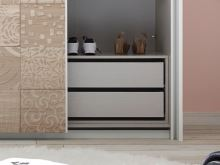 Vnitřní zásuvky do šatní skříně Xaos-ID-220 lamino dekor látka