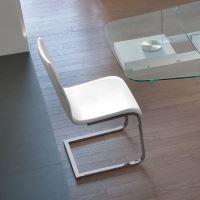 Jídelní židle Jude-SL C TO03 podnož chromovaná, sedák imitace kůže Time bílá