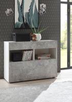 Komoda Sorano-SB bílý lak+beton