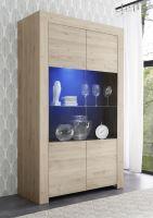 Vitrína Firenze-VET RKA dub kadiz, transparentní sklo