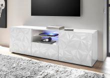 TV skříňka Prisma-TV2 BISP bílý vzor