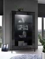 Marmo-VET vitrína dekor  leštěný černý mramor a černá lesklá