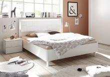 Manželská postel Xaos-P1-180 bílý mat v kombinaci s dekorem bílým