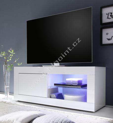 TV skříňka BasicNEW-TV-S LBI LBI bílý lesklý lak