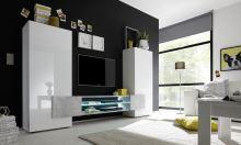 Skříňka pod televizi Incastro-TV-M bílý lesklý lak a beton