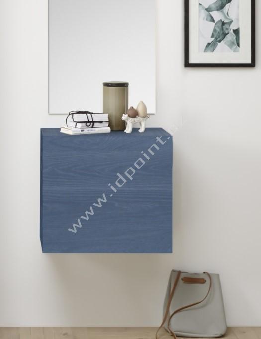 Závěsná skříňka Infinity-A WBLU dřevodekor dub modrý