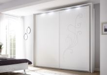 Šatní skříň s posuvnými dveřmi Nivea-SD-243 bílý mat