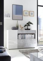 Komoda Nice-COM LBM BET bílý mat a beton